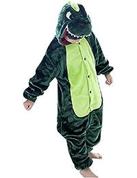 DEBAIJIA Kigurumi Pijama Animal Para Niños Niñas Disfrace Cosplay Franela Traje del Anime Invierno Calentito Pyjamas Navidad Onsie
