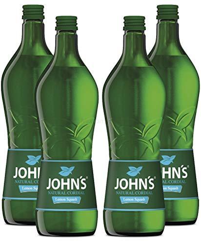 Johns Lemon Squash Sirup für Cocktails 4x 0,7l = 2,8 Liter - Sec Triple Sirup