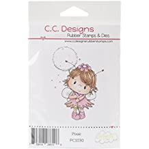"""Pollycraft Cling Stamp 3.5""""X2.5"""" -Pixie"""