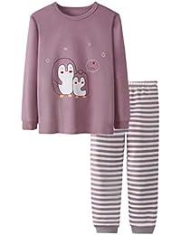 Yying Manga Larga Pyjama Sets Conjuntos de Pijama para Niñas Niño Pijama con Estampado de algodón de Ajuste cómodo de 2 Piezas 90cm-150cm