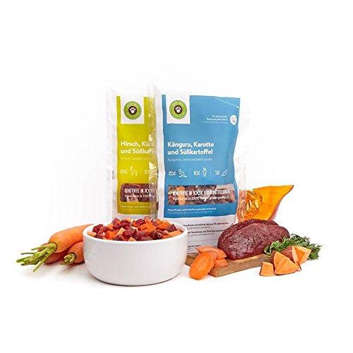 Pets Deli Frischfutter Paket Hypoallergen für Katzen / Gesundes getreidefreies Katzenfutter aus Rohstoffen in Lebensmittelqualität / 2 leckere Sorten / 20 x 120g