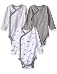 Moon and Back Unisex Baby Organic 3-Piece Long Sleeve Side Snap Bodysuits