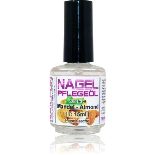 NAILFUN Nagelhautpflege-Öl Mandel-Marzipan 15ml in der Glas-Pinselflasche - Nagelöl Almond