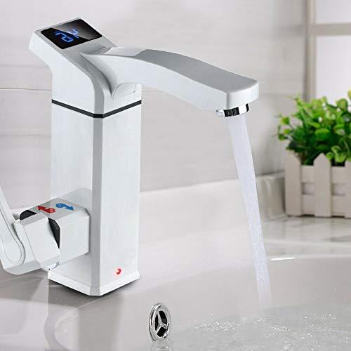YIYIBY Grifo eléctrico Calentador de agua eléctrico instantáneo Calentador de agua con pantalla LED de temperatura para cocina Baño 3000W