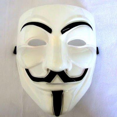 Preisvergleich Produktbild V wie VENDETTA Maske,  weiss Anonymous Replika,  Anti Demo Vendetta Maske