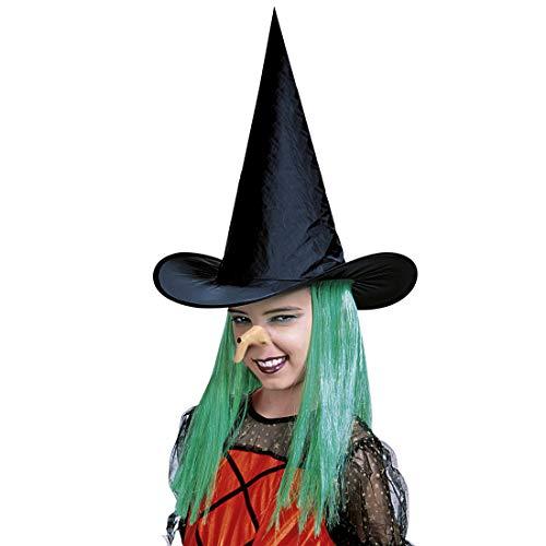Amakando Gruselige Latex-Nase Hexe für Kinder / Hautfarben / Warzennase Gumminase für Jungen & Mädchen / Genau richtig zu Horror-Party & Märchen-Abend (Hexer Böse Kostüm Halloween)