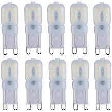 Liqoo® 10 x G9 3W Bombilla LED Lámpara PC Plástico Blanco Frío 6000K AC 220-240V Ángulo de visión 360° 250 Lumen No Dimmable Sustituye la lámpara Halógena de 25W