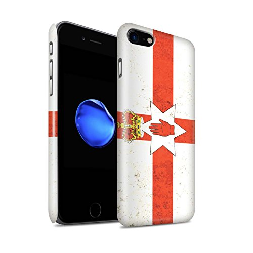 STUFF4 Glanz Snap-On Hülle / Case für Apple iPhone X/10 / Griechenland/Griechisch Muster / Flagge Kollektion Nordirland/Irische