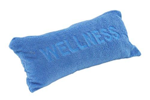 Cuscino cervicale per vasca da bagno, con ventose, adatto anche come cuscino da viaggio, in microfibra morbida, con scritta