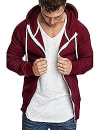 Yvelands Suéteres Activos para Hombre, Camisas para Hombres Sudaderas con Capucha Casual de Manga Larga Top con Trajes para Blusa