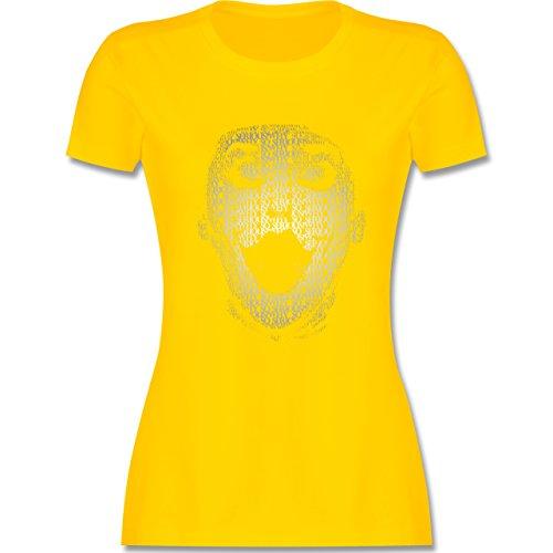 Comic Shirts - Jack Napier - tailliertes Premium T-Shirt mit Rundhalsausschnitt für Damen Gelb