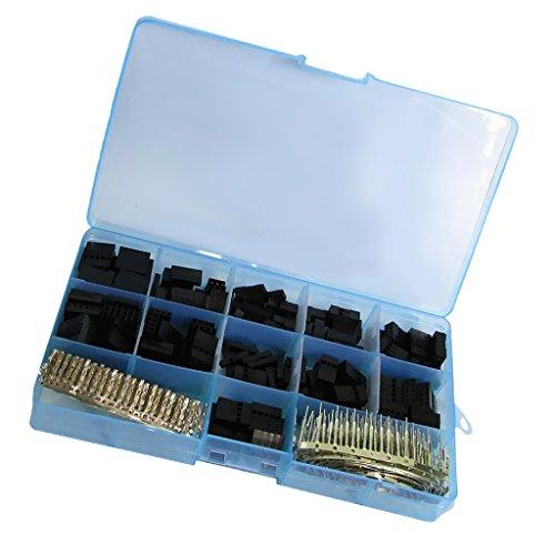 Pin Female-crimp-gehäuse (Sharplace 2,54 mm Draht Jumper Pin Header-Stecker M/F Crimp Pins Kit (620PCS) für Dupont)