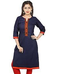 Om trading Women's Straight Denim kurti
