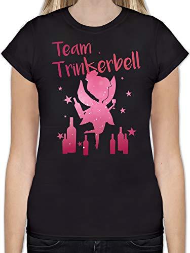 Karneval & Fasching - Team Trinkerbell mit Flaschen - M - Schwarz - L191 - Tailliertes Tshirt für Damen und Frauen T-Shirt