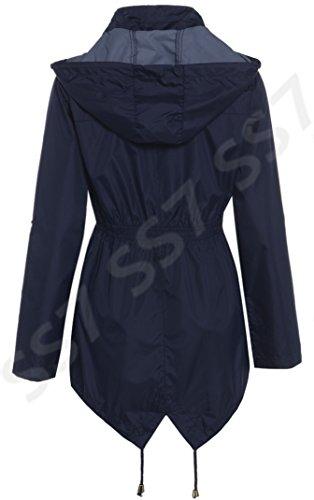 SS7 Femmes Veste de pluie, Marine, Tailles 36 à 44 Bleu Marine