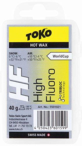Toko HF (Hochfluor) Tribloc Skiwachs Einheitsgröße gelb