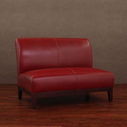 Cole Burnt Rot Leder Liebesschaukel - Leder-sofas Und Zweisitzer