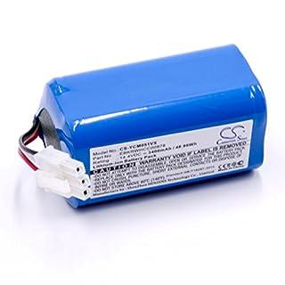 vhbw Li-Ion Akku 3400mAh (14.4V) für Saugroboter Home Cleaner Heimroboter iCLEBO ARTE YCR-M05, POP YCR-M05-P, Smart YCR-M04-1, Smart YCR-M05-10