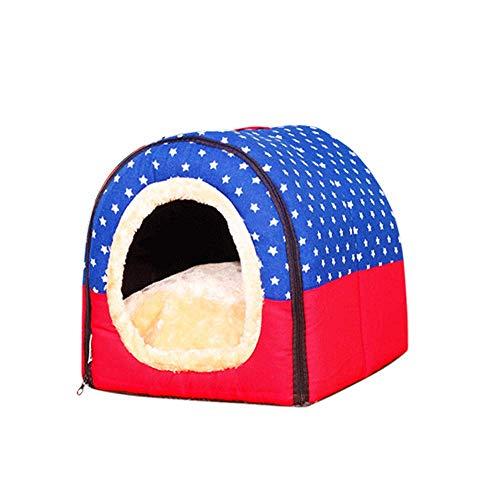 HUIFANG Pet Supplies, Abnehmbare Und Waschbare Pet Zimmer, Dual-use-Nest, Pet Bed, Katzensänfte, Pet Mat A (Farbe : Blau, größe : L)