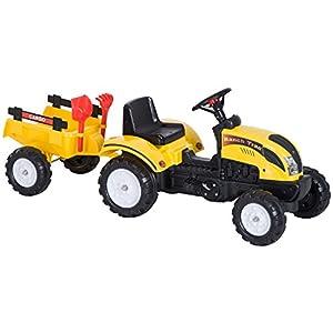 ¿Quieres regalar a tus hijos un juguete original para jugar al aire libre? ¿Has pensado en un tractor con remolque? Nuestro tractor a pedales con remolque tiene un diseño colorido y atractivo que fascinará a tus hijos. El remolque se puede desmontar ...