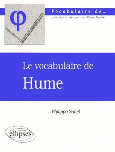 Le vocabulaire de Hume