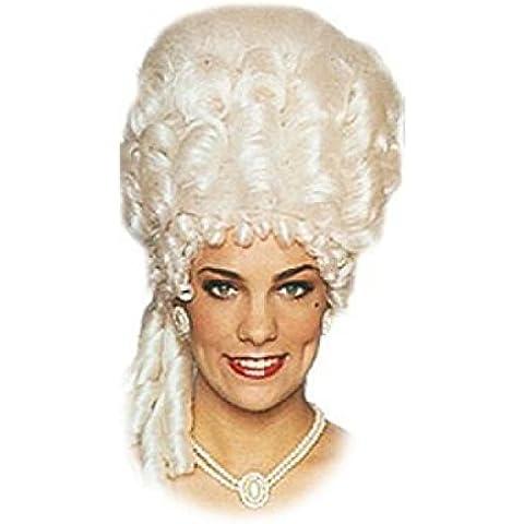 Pelucas mujeres corto blanco carnaval barroco