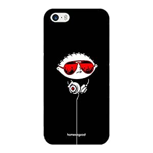 HomeSoGood Music And Fashion Black 3D Mobile Case For iPhone 5 / 5S (Back Cover)