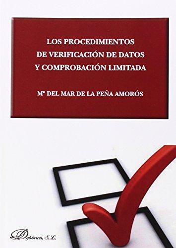 Los procedimientos de verificación de datos y comprobación limitada por María del Mar de la Peña Amorós