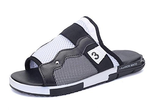 GLTER Sandali aperti di punta Estate nuovi pattini di spiaggia Pattini freddi Sandali personalizzati di moda di svago White