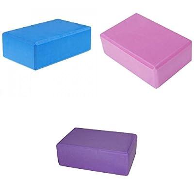 3 Stk. Blau Lila und Rosa Yoga Block Schaumstoff für Übung / Fitness / Gesundes Leben