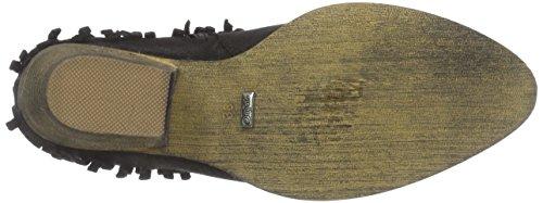Buffalo B147a-31 L159o Sue P2066a Pu, Bottes Cowboy courtes, doublure froide femme Noir - Noir (01)