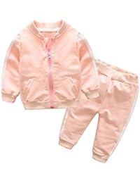 Ropa Bebe Niña Otoño Invierno, ❤️ Zolimx Recién Nacidos de Mangas Largas Chaqueta de Cremallera Ropa de Abrigo + Pantalones Ropa de Niños Conjuntos