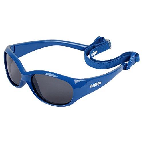 WangYanjun Baby Mädchen Jungen Sonnenbrille mit abnehmbarem verstellbarem Riemen 100% UV-Block (S: 0-2 Jahre)