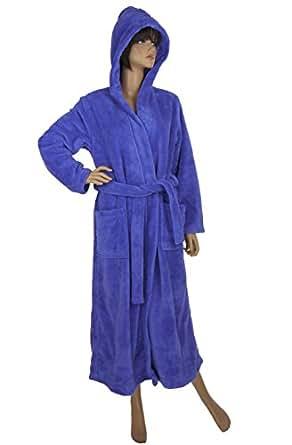 Taubert peignoir relax pour femme avec capuche iris bleu-taille 40