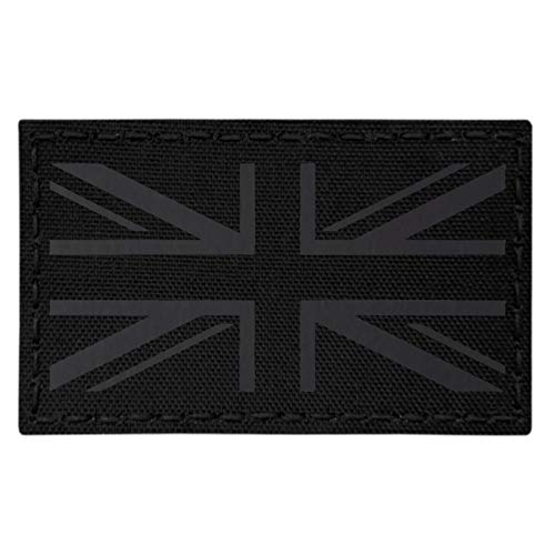 Tactical Freaky Big 3x5 IR UK Union Jack Flag Blackout Infrared Plate Carrier Loadout IFF Morale Fastener Patch - Big 3x5 Flag