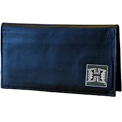 Hawaii Warriors Deluxe Leather Checkbook Cover