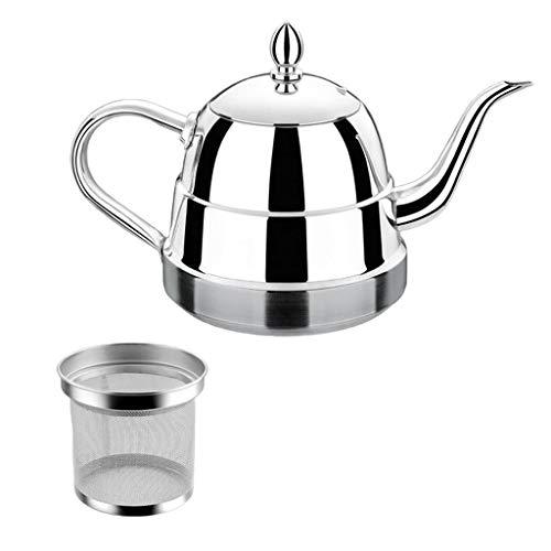 Baoblaze 1L Edelstahl Teekanne Wasserkanne Wasserkessel mit Filter für Wasser Kaffee Tee Milch - Wasser-filter-tee