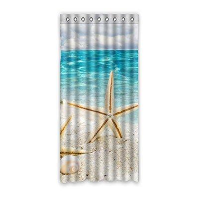 dalliy-custom-star-fish-concha-de-mar-cortina-de-ventana-poliester-52-x108-sobre-132-cm-x-275-cm-one
