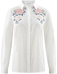 Promod Bluse mit floraler Stickerei