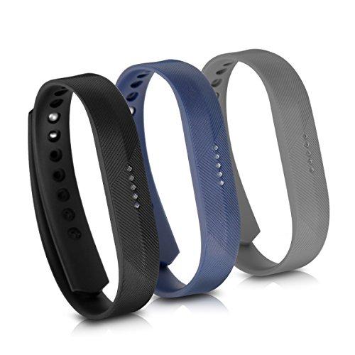 kwmobile Fitbit Flex 2 Armband - 3X Silikon Fitnesstracker Sportarmband für Fitbit Flex 2