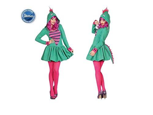 Atosa 26977 - damas dragón Sexy traje, tamaño 38/40, verde