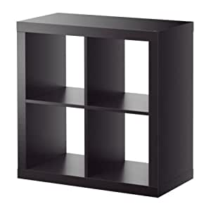 ikea expedit regal schwarz braun 79x79 cm k che haushalt. Black Bedroom Furniture Sets. Home Design Ideas
