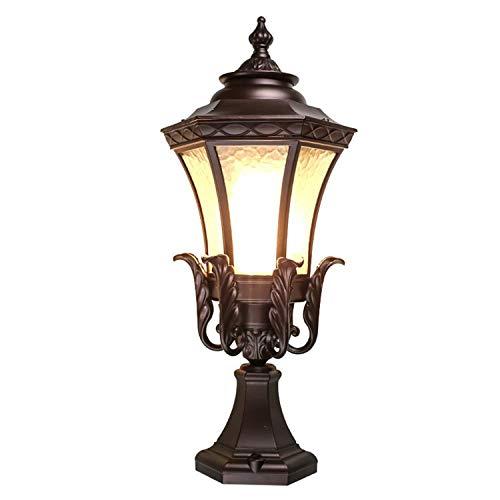 e Wall Column Lights Gartenpfosten Lampe Retro Chapiter Wohn-LED-Panel-Wandleuchten Leuchten Wandleuchte Haus Garten Außerhalb Kugelform Zaun Grenze Wand Chapiter Villa P ()