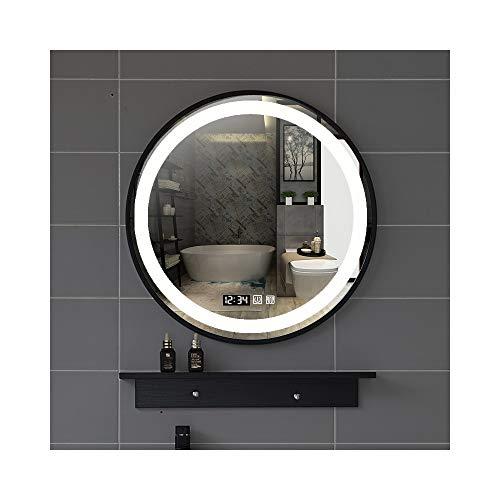 North cool Luz LED Tiempo del Espejo del Baño Temperatura + Estante...