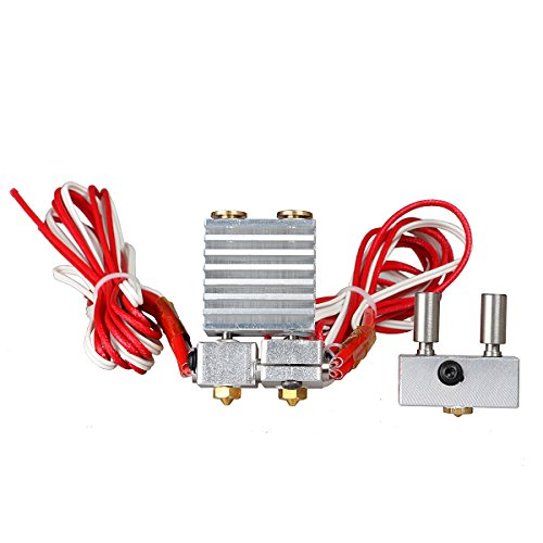 TWB 3d impresora piezas All Metal para E3D QUIMERA E3D cíclope Hotend Kit Dual Color extrusor multi-extrusion para 0,4 mm/1,75