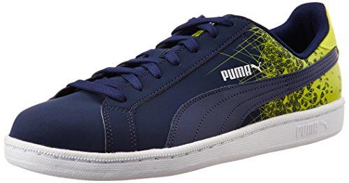 Puma Puma Smash Fr, Baskets Basses mixte adulte Bleu - Blau (peacoat-sulphur spring 03)