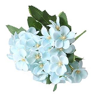 Homeofying 1 Unid Flor Artificial Begonia Home Garden Wedding Arrangement Party DIY Decoración para la Sala de Estar Azul