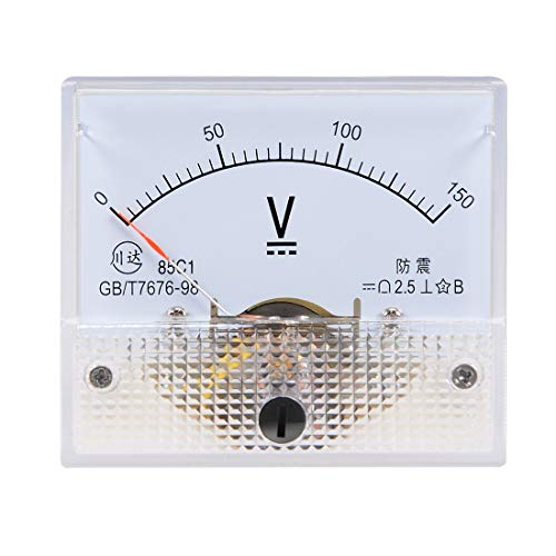 ZCHXD DC 0-150V Analog Panel Voltage Gauge Volt Meter 85C1 2.5% Error Margin -