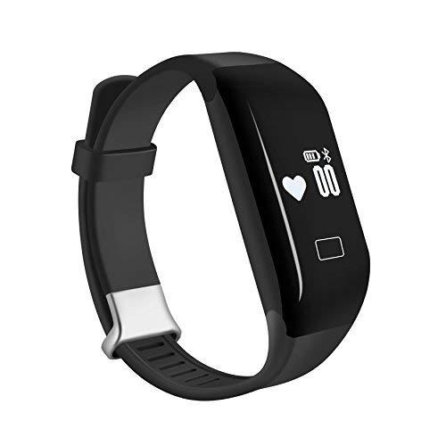 COOSA Fitness Tracker Fitness Armband intelligenter Fitnessarmband Wasserdicht Aktivitätstracker Pulsmesser Sport Armband für iOS und Android (Schwarz)
