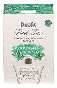 Dualit Fine Tea, Peppermint, 4.2 Ounce 10 Count (Pack of 5)
